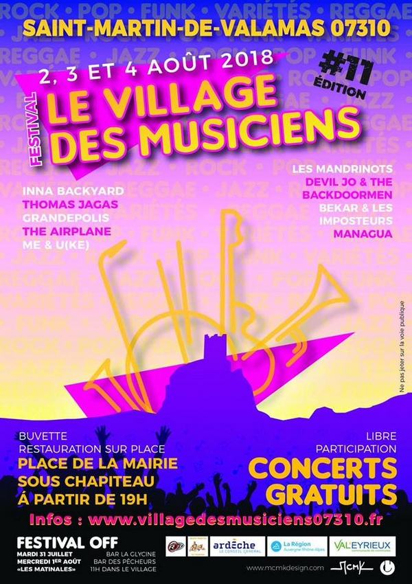 Le Village des Musiciens 2018 : la programmation